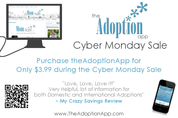 Cyber Monday Sale for Adoption App