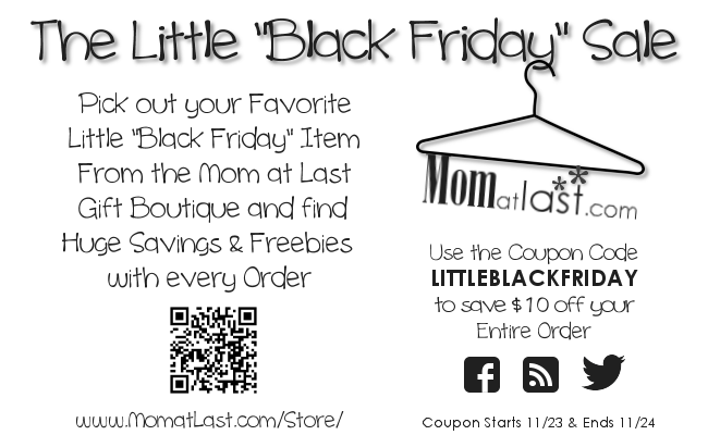 Little Black Friday Sale for Mom at Last