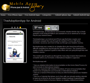 TheAdoptionApp for Android on Mobile Apps Gallery